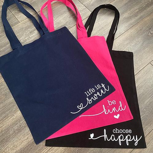 Positive Quote Shopper Bag