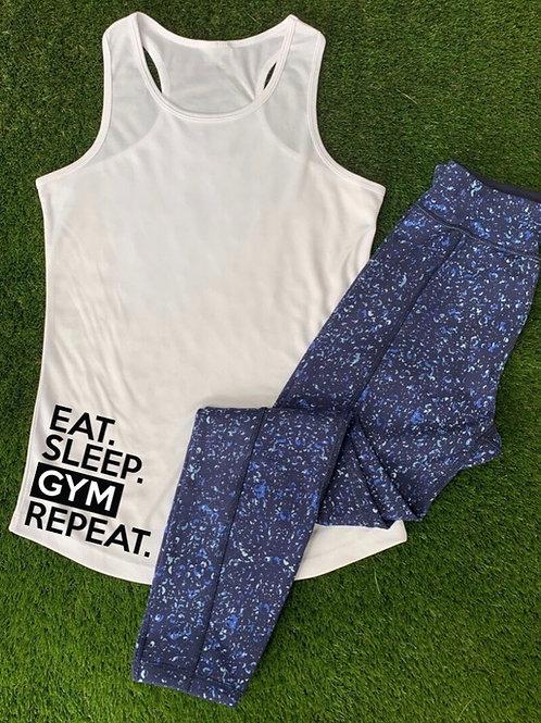 Eat Sleep Gym Repeat Vest