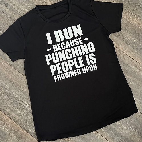 I Run/Workout Sports Tee Mens