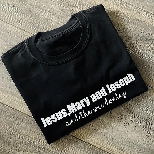 Jesus,Mary and Joseph Tee