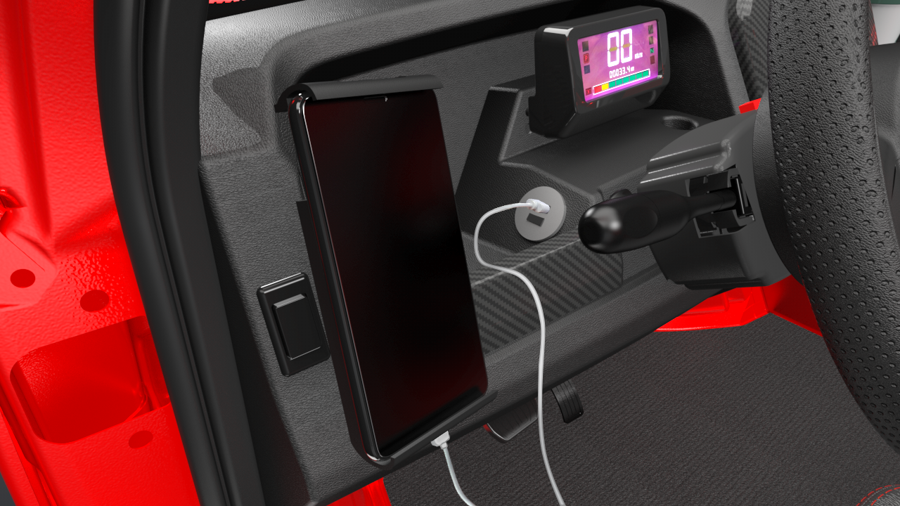 Interior Phone Holder with Charger