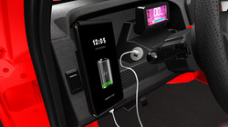Interior Phone Holder with Charger 2