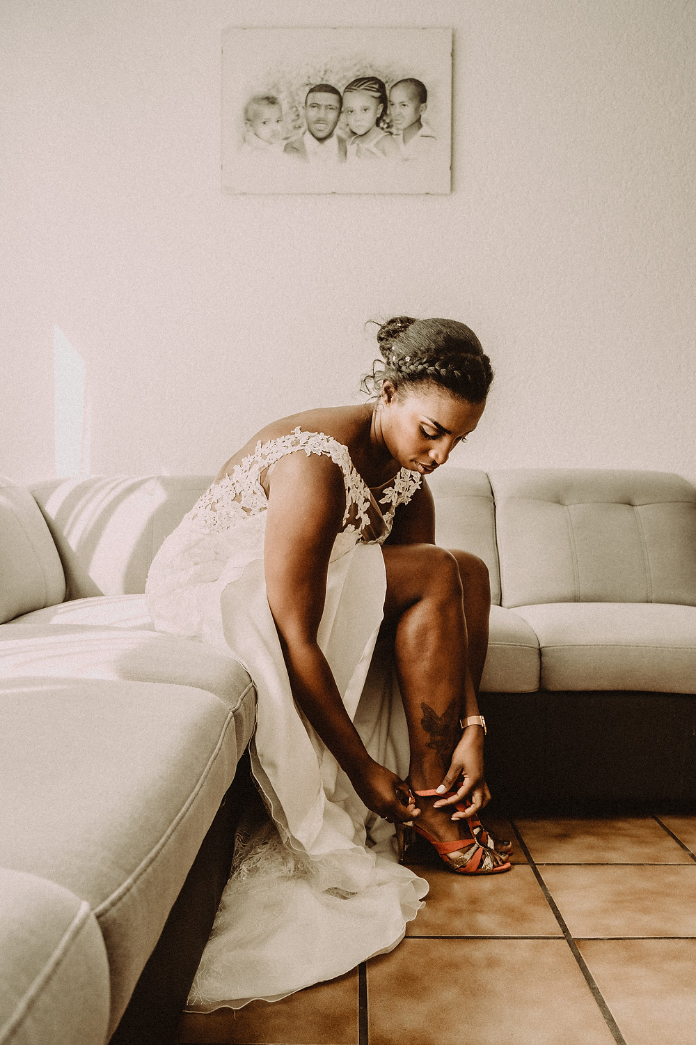 preparation mariee mariage sion photographe suisse mariée chaussures