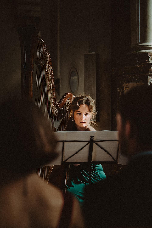 harpe harpiste eglise mariage saint michel fribourg ceremonie musique