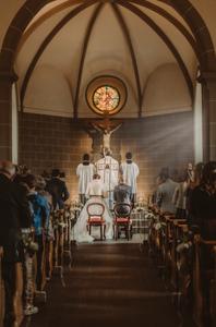 photographe mariage suisse emotion mariee jour J eglise praroman ceremonie