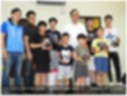前新北市長朱立倫今天參訪板橋區「光點創意樂高機器人創客中心」。(記者賴筱桐攝)2