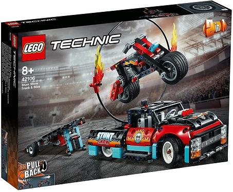 樂高 LEGO Technic 科技系列 《特技表演卡車&摩托車》Stunt Show Truck & Bike 42106