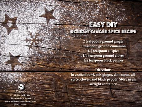 Homemade Ginger Spice