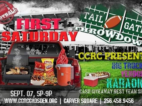 First Saturday September 07, 5p-9p