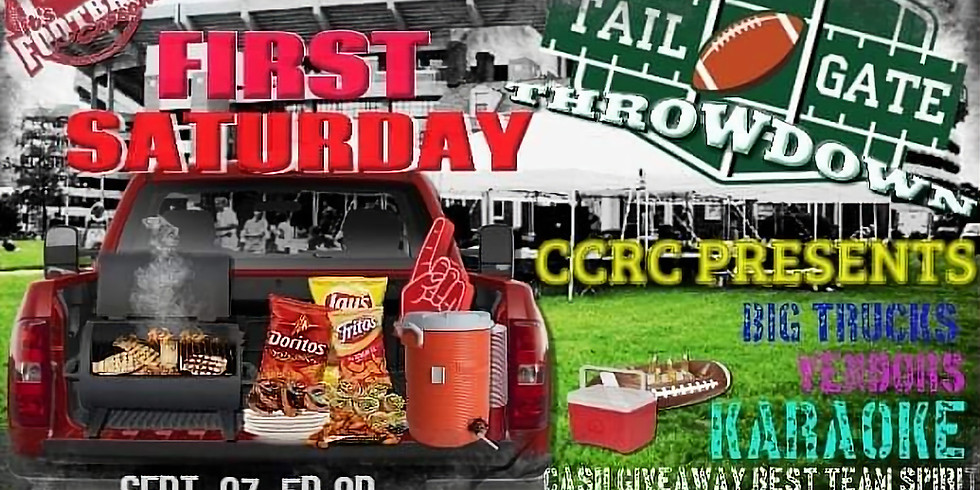 """First Saturday September 07, 5p-9p """"Tailgate"""""""