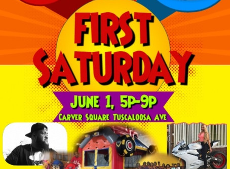 FIRST SATURDAY JUNE 1, 2019. 5:00P-9:00P