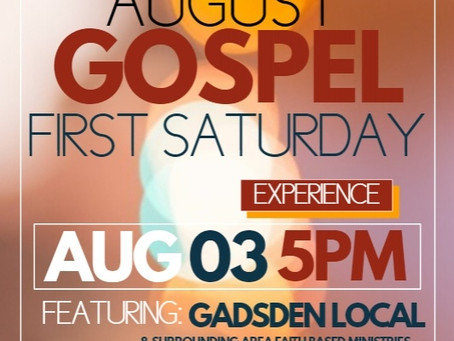 FIRST SATURDAY AUGUST 03, 5P-9P