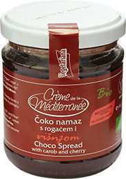 Spread with carob and cherry