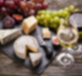 Cheese platter wih wine