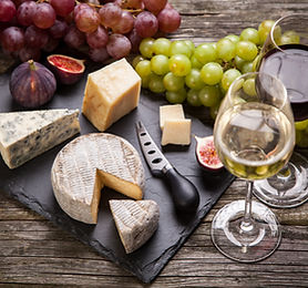 Wine and food platter