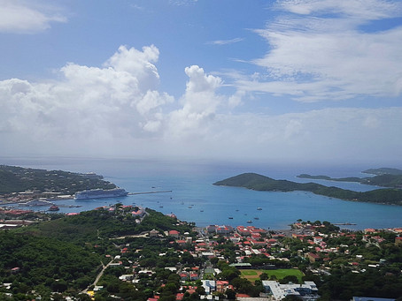 Cruising into St Thomas