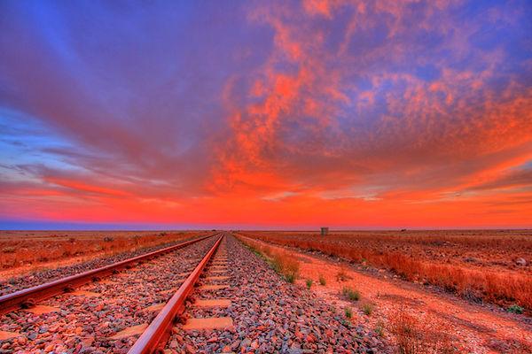Outback Australia rail