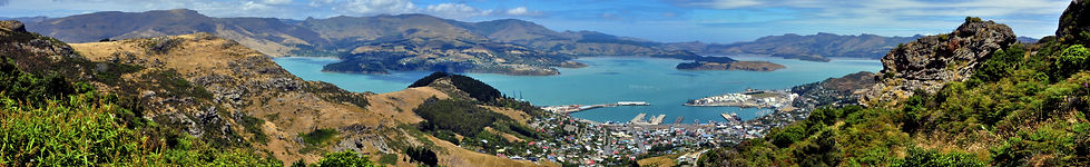 View from the Port Hills into Lyttleton