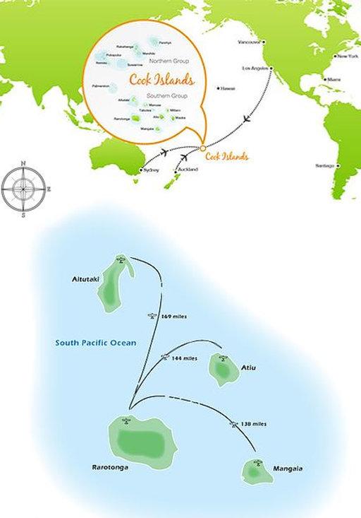 Map of Cook Islands