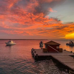 A beautiful Bonaire sunset