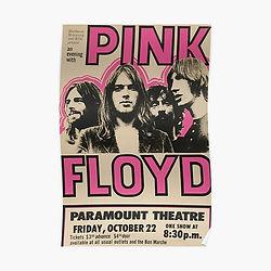 Pink Floyd poster, vintage