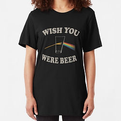 Pink Floyd t-shirt, wish you were beer