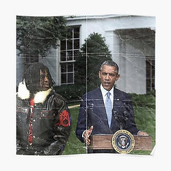 Chief Keef poster, Barack Obama