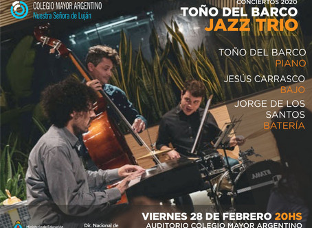 """Conciertos 2020 – Toño del Barco Trío """"Jazz contemporáneo"""""""