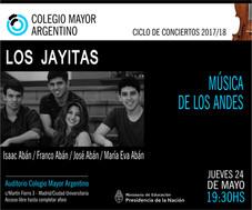 """Ciclo de conciertos 2017/18 - Grupo Los Jayitas – """"Música de los Andes"""""""