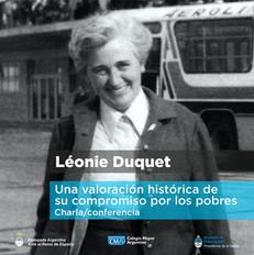 Conferencia: Léonie Duquet, una valoración histórica de su compromiso por los pobres