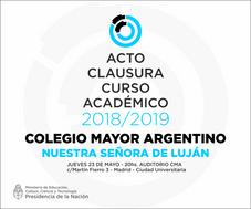 Acto de Clausura Curso Académico 2018/2019