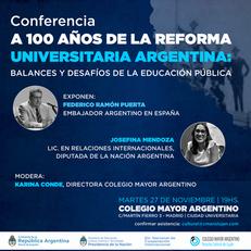 Conferencia en el marco de los 100 años de la reforma Universitaria Argentina