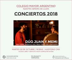 Conciertos 2018 – Dúo Juan y Memi
