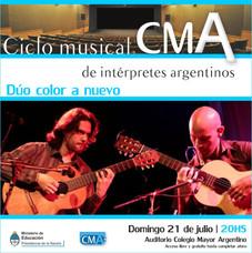 """1º Ciclo Musical de Intérpretes Argentinos - Dúo de guitarras """"Color a Nuevo"""""""