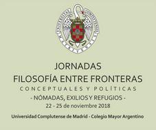 Jornadas: Filosofía entre fronteras conceptuales y políticas - UCM