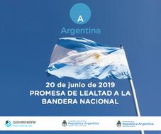 Ceremonia de promesa de Lealtad a la Bandera Argentina