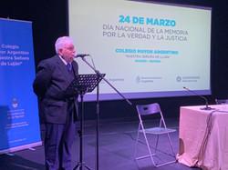 Acto conmemoración - Día Nacional de la Memoria por la Verdad y la Justicia