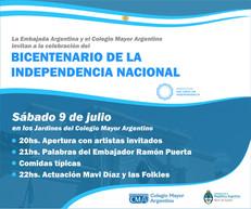 Celebración del Bicentenario de la Independencia Argentina