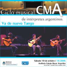 1º Ciclo Musical de Intérpretes Argentinos – Va de nuevo Tango