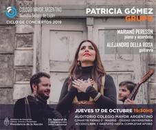 Conciertos 2019 – Patricia Gómez Grupo