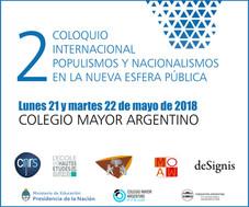 2º Coloquio Internacional Populismos y nacionalismos en la nueva esfera pública