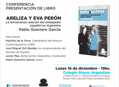 Conferencia presentación del libro: Areilza y Eva Perón. La tormentosa relación del embajador españo