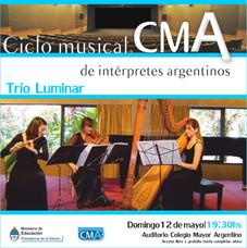1º Ciclo Musical de Intérpretes Argentinos – Trío Luminar