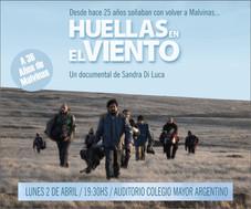 """Aniversario de Malvinas - estreno del documental """"Huellas en el viento"""""""