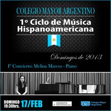 1º Ciclo de Música Hispanoamericana CMA – Concierto: Melina Marcos