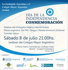 Conmemoración día de la Independencia Argentina