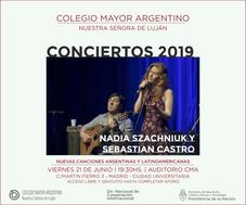 Conciertos 2019 – Dúo Nadia Szachniuk y Sebastián Castro