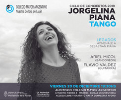 Conciertos 2019 – Jorgelina Piana, homenaje a Sebastián Piana