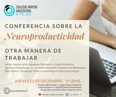 Conferencia sobre Neuroproductividad