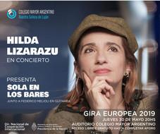 Hilda Lizarazu en concierto –  Sola en los bares